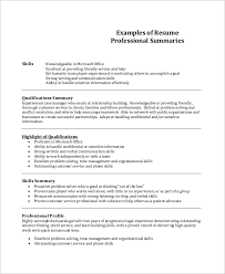 Organizational Skills Examples For Resume by Sample Professional Resume 7 Examples In Pdf