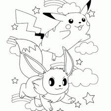 pikachu eevee coloring pages coloring