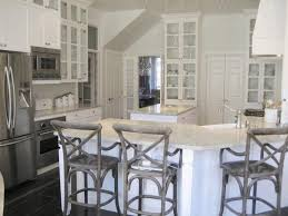 grey kitchens cabinets smooth brown granite countertop