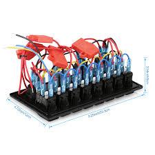 8 gang led rocker switch panel 12v 24v car boat marine voltmeter 2