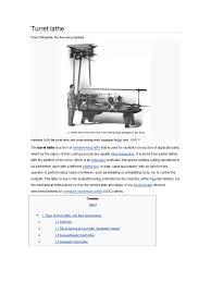 turret lathe metalworking machining