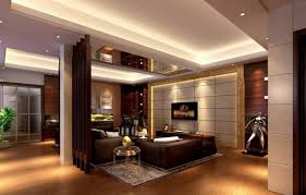 model house decoration illuminated lighting around interior house design contain furniture