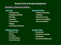 business policy u0026 strategic management