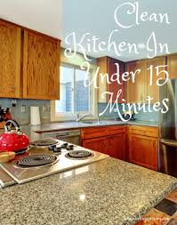 Clean Kitchen Clean Kitchen In Under 15 Minutes Building Our Story