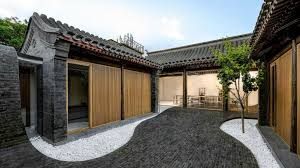 courtyard home this mind blowing home s undulating courtyard lifts up to form