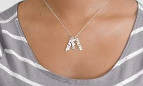 children s initial necklace for personalized necklaces deals coupons groupon