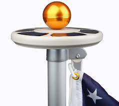 Flag Pole Repair Amazon Com Sunnytech 3rd Generation Solar Power Flag Pole