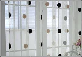 Grey And White Polka Dot Curtains White Sheer Curtains With Black Trim And Polka Dot Home Design