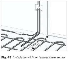 bathroom underfloor heating thermostat electric floor heat thermostat thermostat sensor location electric