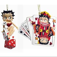 buy set of 2 betty boop cards u0026 dice christmas ornaments in cheap