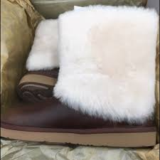 ugg sale leather 99 ugg shoes fur brown leather uggs size 8 in box wkd