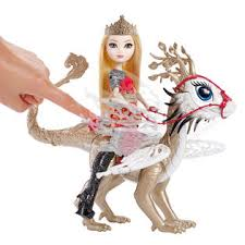 Ever After High Apple White Doll Ever After High Apple White Dragonrider Doll And Braebyrn Dragon