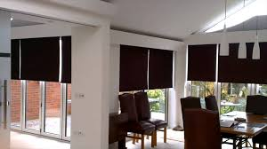 somfy motorised roller blinds and duette motorised triangular roof