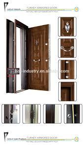 Single Door Design by High Quality New Modern Turkey Wooden Door Windproof Waterproof