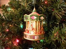 noma ornamotion rotating ornament reindeer ride carousel 1989