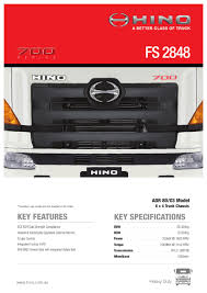 hino 700 series fs 2848 spec sheet by justin edwards issuu