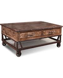 Caster Coffee Table Great Deals On Loft Rustic Solid Wood Coffee Table On Casters
