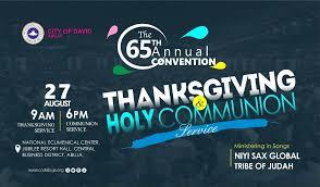 rccg cod abuja codabuja presents the 65th annual thanksgiving