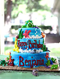 fun birthday cake party seaworld ocean themed party ideas