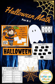 halloween math halloween ghoulish number recognition and addition games math