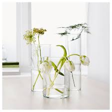 White Vases Ikea Cylinder Vase Set Of 3 Clear Glass Ikea