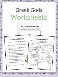 greek gods facts worksheets u0026 ancient myths for kids