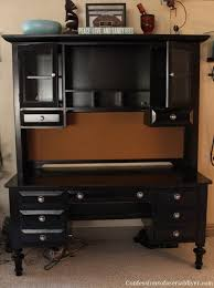 black desk with hutch desk makeover confessions of a serial do it yourselfer