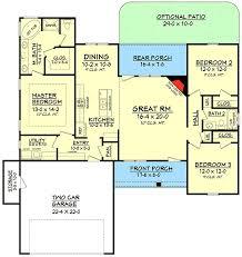 split bedroom floor plan split bedroom craftsman house plan 11794hz architectural