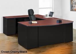 U Shaped Computer Desk Mayline Csii Modern Executive Wrap Around Computer Desk