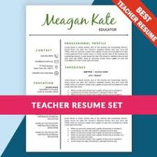Teacher Resume Templates Word Teacher Resume Template For Word And Pages Instant Download