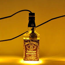 Whiskey Bottle Chandelier Industrial Pendant Light Whiskey Bottle Repurposed Jack Daniels