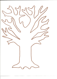 thanksgiving curriculum preschool tree template for fingerprint and tissue paper tree http www