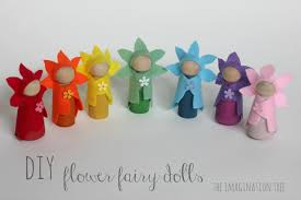 diy flower fairy wooden peg dolls the imagination tree