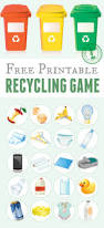 printable recycling game recycling games free printable and earth