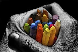 wallpaper chalk crayons colored colorful hands palms hd