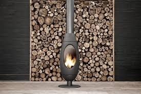 ove curved freestanding wood fireplace oblica designer fireplaces