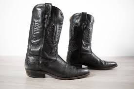 mens leather riding boots vintage cowboy boots mens size 10 11 black western horseback
