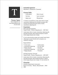 Microsoft Word Resume Templates 2007 Free Resume Templates For Microsoft Word Resume Template And