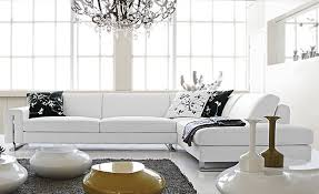 Contemporary White Leather Sofas Free Shipping Small L Shaped Simple White Cattle Leather Modern