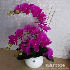 artificial orchids 55cm real touch high simulation silicone flowers artificial orchid