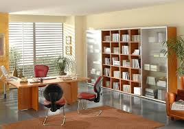 fresh interior office with rustic furniture part of interior
