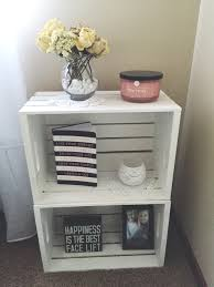 one nightstand next to my bed diy crates from michaels for the one nightstand next to my bed diy crates from michaels