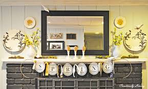 Yellow Fireplace by Fascinating Image Of Home Interior Design Using Spring White And