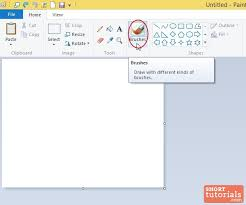 how to use brush tools in ms paint windows 8