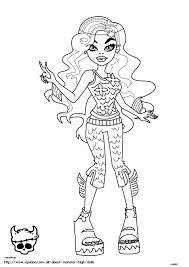 monster high robecca coloring pages getcoloringpages com