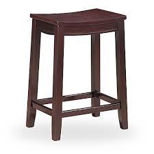 linon home decor products inc walt walnut gray bar stool linon home aubree saddle stool bed bath beyond