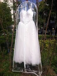 wedding dress bag length clear see through wedding dress garment bag