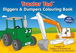 tractor ted diggers dumpers colouring book thomas irving u0027s