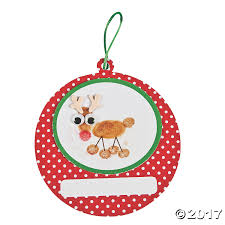 thumbprint reindeer ornament craft kit trading