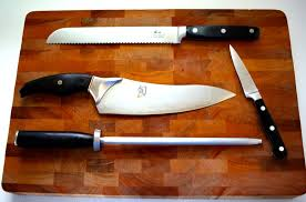how to sharpen kitchen knives how to sharpen a serrated knife the kitchen professor